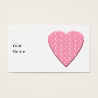 Pink Strawberry Heart. Business Card
