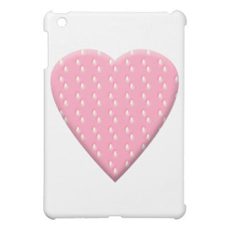 Pink Strawberry Heart. Cover For The iPad Mini