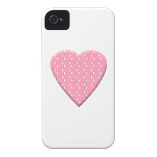 Pink Strawberry Heart. iPhone 4 Case