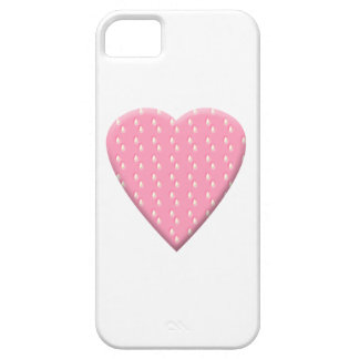 Pink Strawberry Heart. iPhone 5 Cases