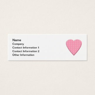 Pink Strawberry Heart. Mini Business Card