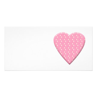 Pink Strawberry Heart. Picture Card