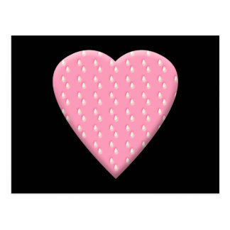 Pink Strawberry Heart. Postcard