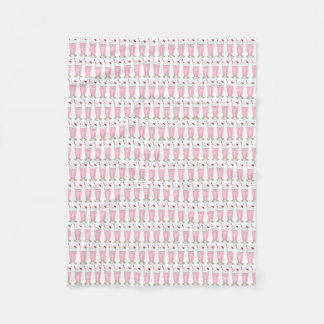Pink Strawberry Ice Cream Shake Milkshake Dessert Fleece Blanket