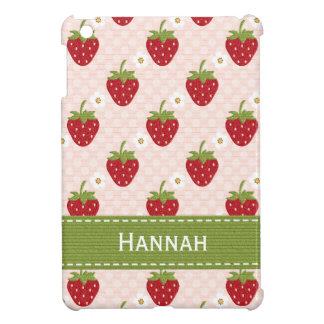 Pink Strawberry iPad Mini Case