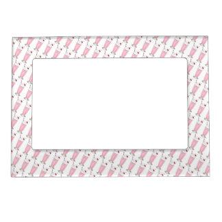 Pink Strawberry Milkshake Ice Cream Print Gift Magnetic Frame