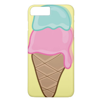 Pink Strawberry Mint Retro Summer Ice Cream Casing iPhone 7 Plus Case