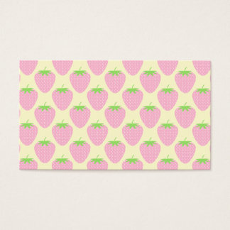 Pink Strawberry Pattern. Business Card
