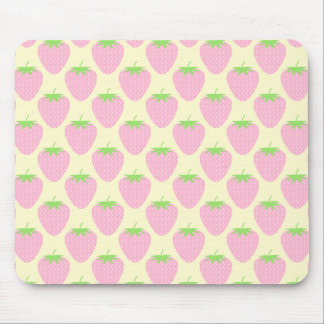 Pink Strawberry Pattern. Mouse Pad