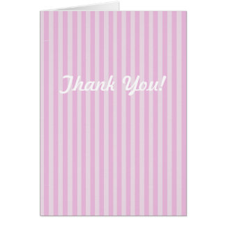 Pink Stripe Baby shower Thank you Cards