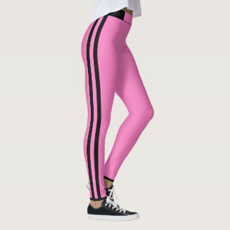 Pink Stripe Leggings