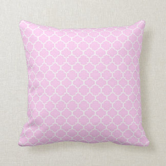 Pink Stripe Moroccan Tile Throw Pillow