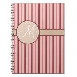 Pink Stripe Note Book