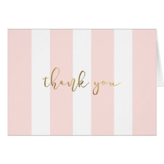 Pink Stripe  With Script Card