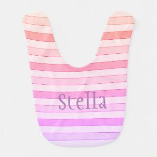 Pink Striped Bib