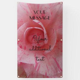 Pink Striped Camellia Bush Flower 0257 Banner