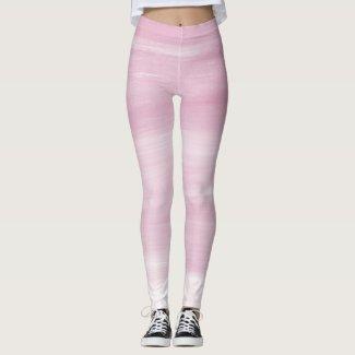 Pink Striped leggings