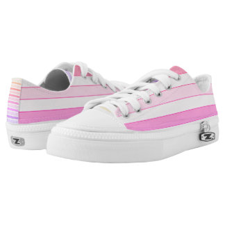 Pink striped Low Tops