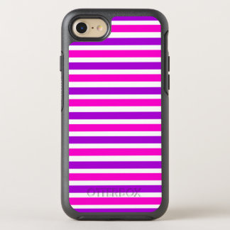 Pink striped OtterBox symmetry iPhone 7 case
