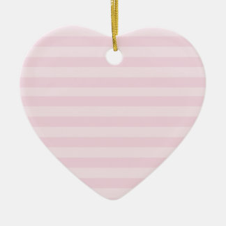 Pink Striped Pattern Ceramic Heart Decoration