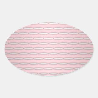 Pink Striped Pattern Modern Design Oval Sticker