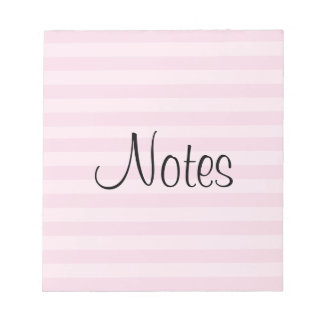 Pink Striped Pattern Notepad
