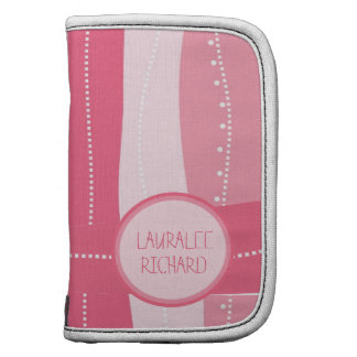 Pink Striped Planner for Ladies with Name