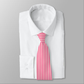 Pink Striped Tie