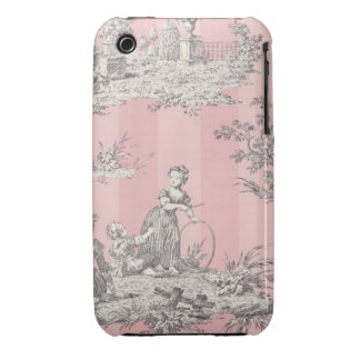 Pink Striped Toile BlackBerry Curve Case