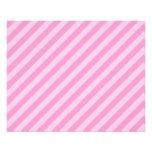 Pink Stripes. 11.5 Cm X 14 Cm Flyer