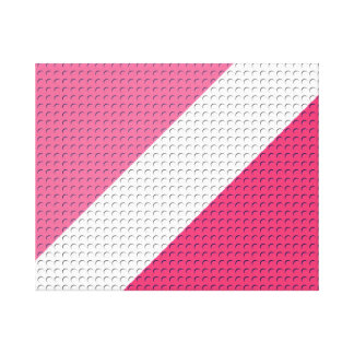 Pink Stripes and Dots Gallery Wrapped Canvas