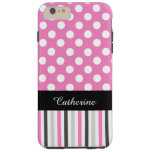 Pink Stripes and Polka Dot iPhone 6 Plus case Tough iPhone 6 Plus Case