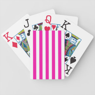 Pink Stripes Bicycle Playing Cards