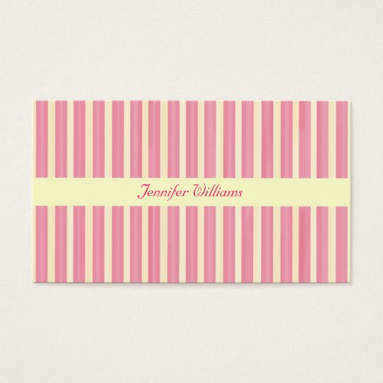 Pink Stripes Business Card