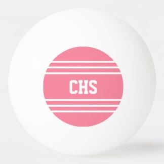 Pink Stripes custom monogram balls