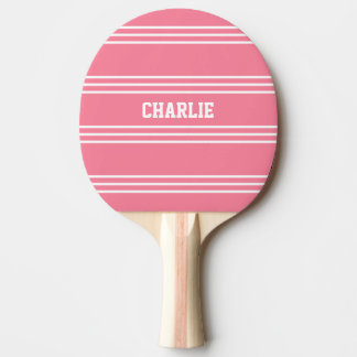Pink Stripes custom monogram paddle