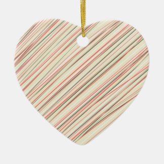 Pink Stripes Christmas Tree Ornaments