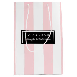 Pink Stripes Medium Gift Bag