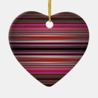 Pink stripes pattern christmas ornament
