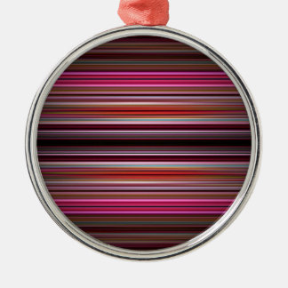 Pink stripes pattern christmas ornament
