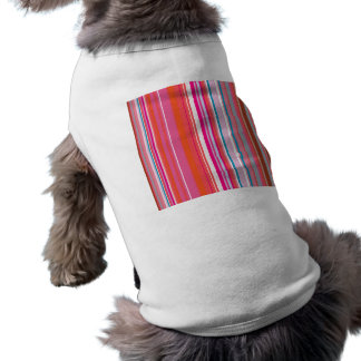 Pink Stripes Pattern Sleeveless Dog Shirt
