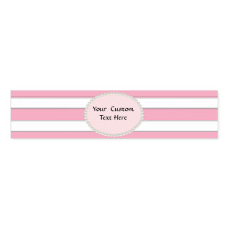 Pink Stripes &Pearls  Custom Napkin Bands