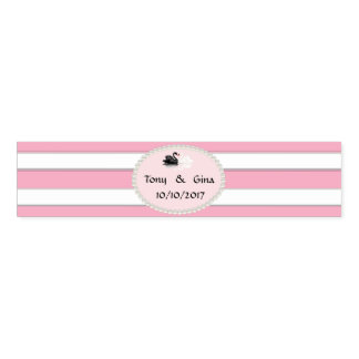 Pink Stripes, Pearls & Swans Wedding Napkin Bands