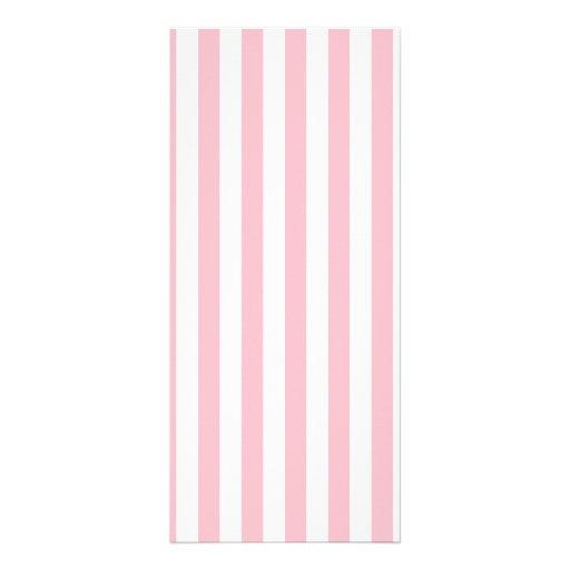 Pink Stripes Custom Rack Card
