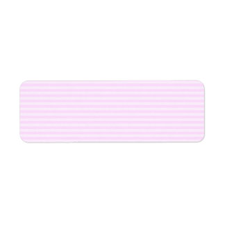 Pink Stripes. Return Address Label