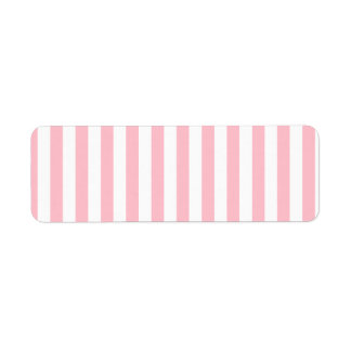 Pink Stripes Return Address Label