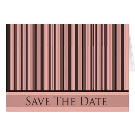 Pink Stripes Save The Date Card