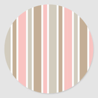 Pink Stripes Stickers