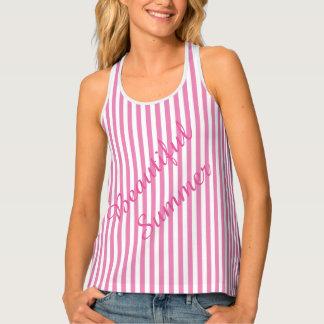 Pink Stripes Tank Top