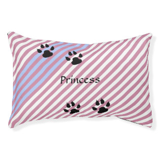 Pink Stripes Template Pet Bed